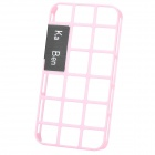 Simple Hollow Out Style Decorative Case with Screen Protector for Iphone 4 / 4S - Pink