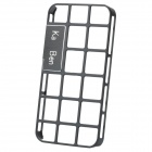 Simple Hollow Out Style Decorative Case with Screen Protector for Iphone 4 / 4S - Black