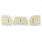 1.8W 95LM 3200K Warm White 27-LED Reading Light for Chevrolet Cruze (3-Piece Pack)