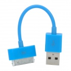 USB Data & Charging Cable for iPhone 4 / 4S - Blue (8CM)