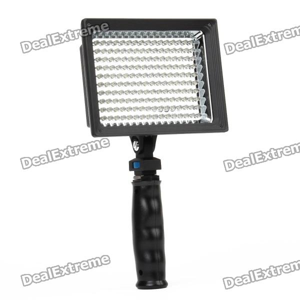 9.6W 160-LED White Light Video Lamp with Filters for Camera/Camcorder 15w 6000k 1050lux 6 led white light video lamp with filters for camera camcorder black
