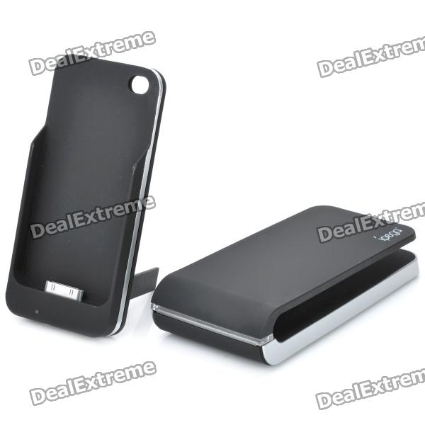 IPEGA PG-IH035 1800mAh Non-Contact Charger Back Case for iPhone 4 / 4S- Black