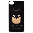 Batman Face Pattern Protective Plastic Back Case for Iphone 4 / 4S - Black