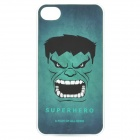 The Hulk Face Pattern Protective Plastic Back Case for Iphone 4 / 4S - Green