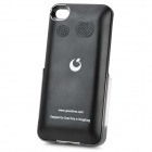 Genuine Goestime 1800mAh Externe Batterie-Backup-Power-Case w / Stereo für iPhone 4 / 4S - Schwarz