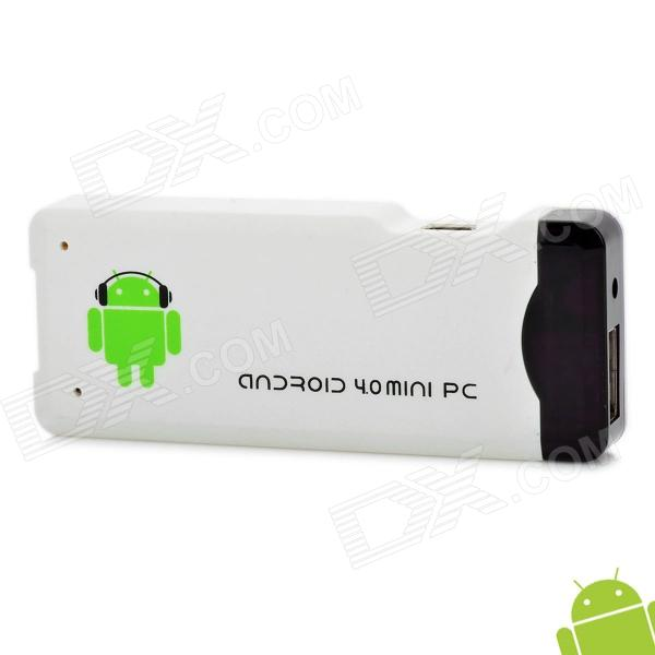 A22 Android 4.0 Mini PC Google TV Player w/ WiFi / Allwinner A10 / TF / HDMI - White (4GB)