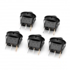 Car Rocker Switches with Red Light Indicator (5-Pack / 12V)