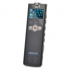 "Cenlux C70 1.0"" Digital Voice Recorder w/ MP3 Player - Black + Silver (4GB)"