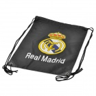 Real Madrid Club Football Logo Kordelzug-Tragetasche - Schwarz