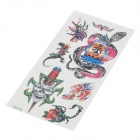 Cool Perfumed Temporary Tattoo Sticker - Snake / Skull / Tiger / Spider / Scorpion / Lizard