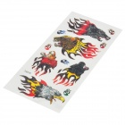 Cool Perfumed Temporary Tattoo Sticker - Head of Tiger / Wolf / Leopard / Hawk