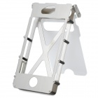 Flip Open Cover Style Protective Stainless Steel 360 Degree Case for iPhone 4 / 4S - White + Silver