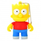 The Simpsons Bart Simpson Figure Style USB 2.0 Flash Drive - White (4GB)
