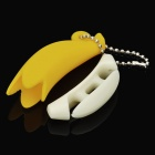 Cute Banana Style Earphone Headphone Cable Winder - Yellow