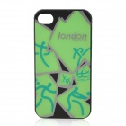London 2012 Logos Pattern Protective Plastic Back Case for iPhone 4 / 4S - Green + Black