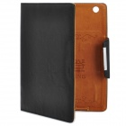 KALADENG Wallet Style Protective PU Leather Flip Open Case for Ipad 2 / The New Ipad - Black