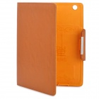 KALADENG Wallet Style Protective PU Leather Flip Open Case for Ipad 2 / The New Ipad - Brown