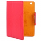KALADENG Wallet Style Protective PU Leather Flip Open Case for Ipad 2 / The New Ipad - Red