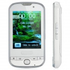 "T900 GSM Bar Phone w/ 2.9"" Screen, Quad-Band, Dual-SIM, TV and FM - White"