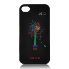 """2012 London Olympic Protective Plastic Back Case w/ Words """"London"""" Bonsai for iPhone 4 / 4S - Black"""