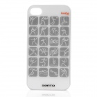 London 2012 Olympic Sports Logos Pattern Protective Plastic Back Case for iPhone 4 / 4S - White