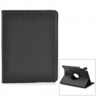 360 Degree Rotatable Protective PU Leather Stand Case for Ipad 2 / The New Ipad - Black