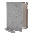 Rotation Protective Jean Leather Case for Ipad 2 / The New Ipad - Grey