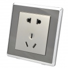 Wall Mount 5-Pin Power Socket Outlet - Champagne