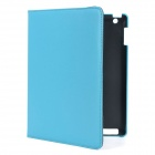 Executive-Lichee Pattern Protective PU Leather Case für iPad 2 / dem neuen iPad - Blue