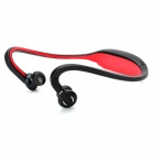 S9 Bluetooth V2.0+EDR Back-Hang Handsfree Stereo Headset - Red (100 Hours Standby)