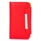 KALAIDENG Protective PU Leather Flip-Open Case for Samsung i9100 - Red