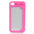 Magic Drawing Board Style Protective Plastic Back Case for iPhone 4 / 4S - Deep Pink