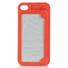 Magic Drawing Board Style Protective Plastic Back Case for iPhone 4 / 4S - Red