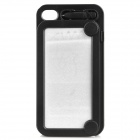 Magic Drawing Board Style Protective Plastic Back Case for iPhone 4 / 4S - Black