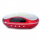 UPPO 8129F Oval Style MP3 Player Speaker w/ FM / TF / USB - Red