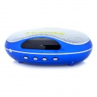 UPPO 8129F Oval Stil MP3-Player-Lautsprecher w / FM / TF / USB - Blau
