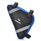 Outdoor Portable Triangular Bike Bicycle Tools Bag - Blue + Black