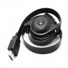Retractable HDMI V1.4 Male to Male Connection Cable - Black (180cm)