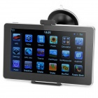 "7.0"" Resistive Screen WinCE 6.0 Car GPS Navigator with FM / 4GB Europe Maps - Black + Silver"