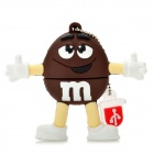 Brown M&amp;M Spokescandy Style USB 2.0 Flash Drive (4GB)