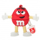 Red M&amp;M Spokescandy Style USB 2.0 Flash Drive (8GB)