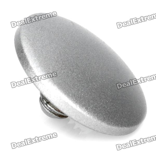 Cam-in Matte Soft Screw Shutter Release Button for Leica / Hasselblad + More - Silver (Convex)