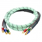 3-RCA Male to Male Component Cable - Green (180cm)