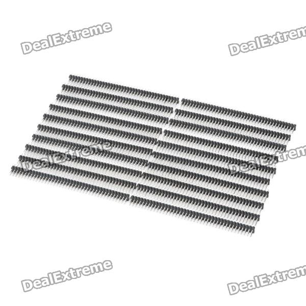 Double Row 2 x 40-Pin 2.54mm Pitch Pin Headers (20-Piece Pack) double row 10 pin 2 54mm pitch pin headers 10 piece pack