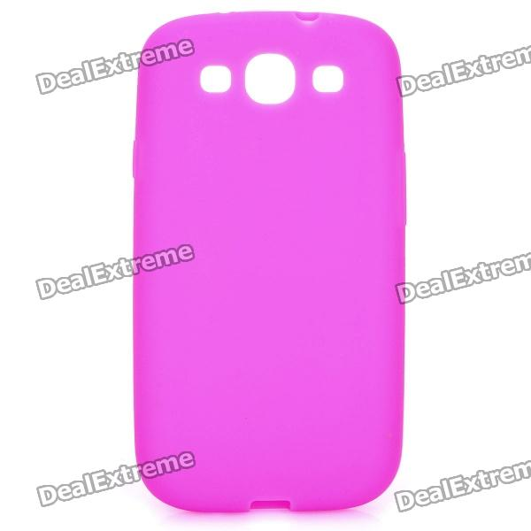 Protective Silicone Case for Samsung Galaxy S3 i9300 - Deep Pink