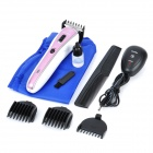 AV 220V Rechargeable Hair Clipper Trimmer for Baby w/ US Plug - White + Deep Pink