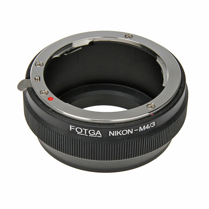 FOTGA AI Lens to Panasonic / Olympus M4/3 Mount Adapter - Black 60mm f 2 8 2 1 2x super macro manual focus lens for micro 4 3 m43 panasonic dmc gf2 gf1 g2 gf3 g5 gh4 gh3 e m5 ep 3 e pl3