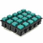 DIY 2-Pin Square Push Button Switches - Green + Black (20-Piece Pack)