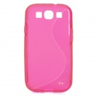 Protective TPU Back Case for Samsung i9300 Galaxy S3 - Deep Pink