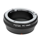 FOTGA Pentax PK Lens to Panasonic / Olympus M4/3 Mount Adapter - Black